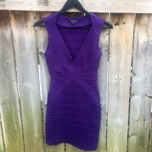 Topshop purple bodycon dress - size 4
